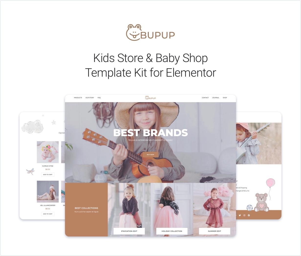 1-presentation Bubup — Kids Store & Baby Shop Elementor Template Kit theme WordPress